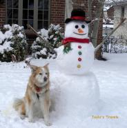 Tayla and snowman edit w tag