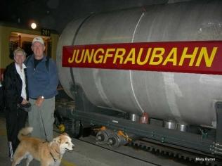 Tayla Train to Jungfrau Switzerland